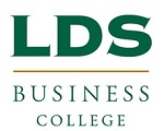 LDS Business College logo and website link